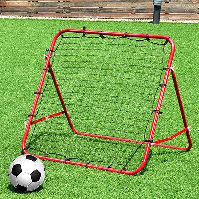 Pro Rebounder Net Football Training Adjustable Kickback Soccer Target Goal Child