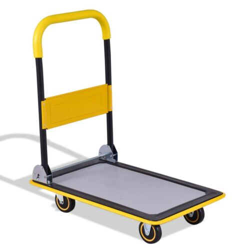 Folding 330 lbs Platform Cart Dolly Hand Truck Tool Iron & P