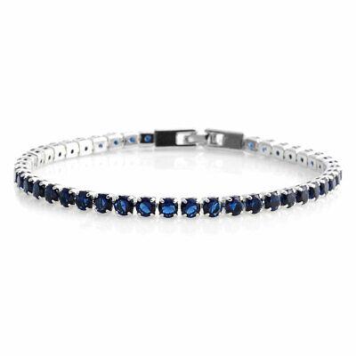 "Shop LC Blue Cubic Zirconia CZ Tennis Bangle Bracelet Gift for Women 8"" 10.57 Ct"