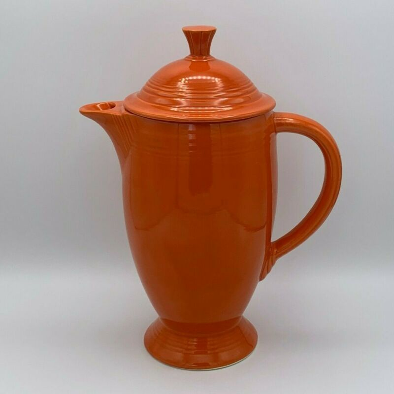 Fiesta Vintage Coffee Pot w/ Lid - Radioactive Red