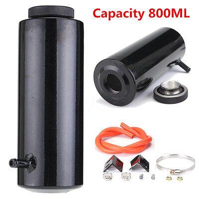800ml Overflow Catch Tank Radiator Coolant Expansion Tank Bottle Header Black UK