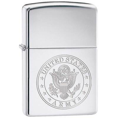 Zippo Windproof Lighter United States Army Engraved (250MP-ARMY)
