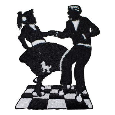 1950's Sock Hop Dancing Applique Patch (Iron - Sock Hops 1950s