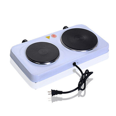 Electric Double Burner Hot Plate Portable Stove Heater Countertop Cooking New