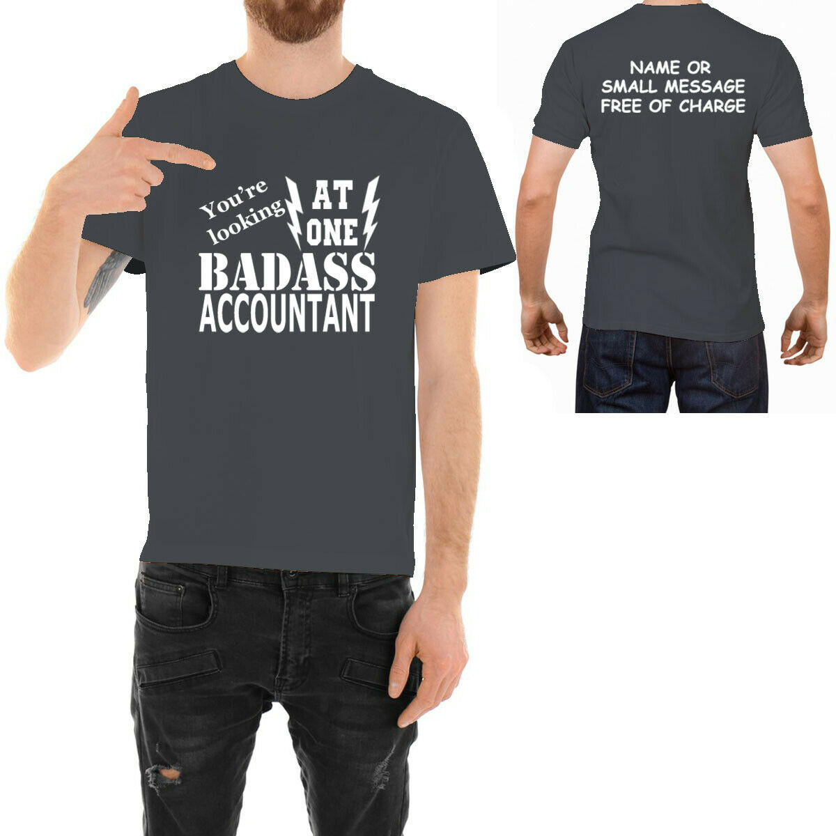 Badass Accountant  T-shirt Funny Ideal Father day Birthday G
