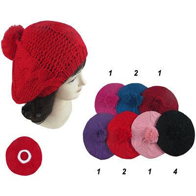 12pcs Winter Warm Braided Beret Baggy Knit Crochet Beanie Hat Ski Wholesale Lot