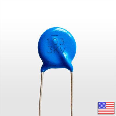 10Pcs 30KV 100P 100PF 101 high voltage ceramic capacitor 30KV 1 ZT