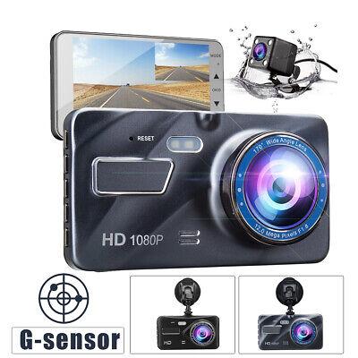 4'' Car DVR Dash Cam Video Recorder Front & Rear Camera 1080P Dual Lens LCD US