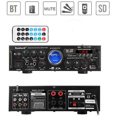 2000W 110V 2CH VU Bluetooth 4.0 home audio stereo power amplifier HiFi AMP FM SD