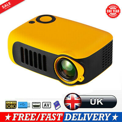 Portable Pocket Mini LED Projector 3D HD 1080P Home Cinema HDMI AV USB SD VGA UK