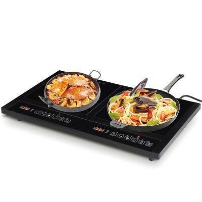 Electric Dual Induction Cooker Cooktop 1800W Countertop Double Burner Portable