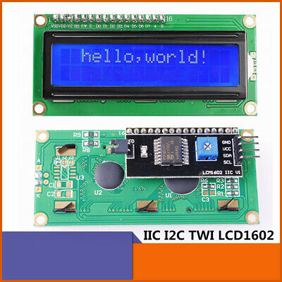 1602 16x2 Serial Lcd Board W White On Blue Backlight Iici2c Module For Arduino