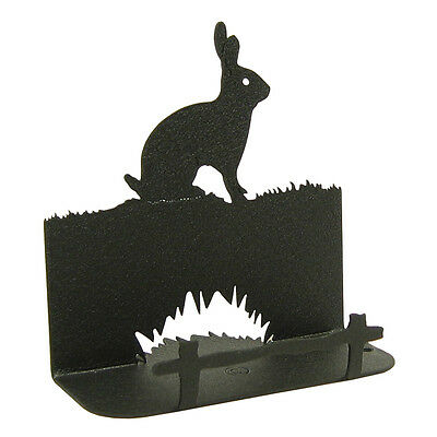 Bunny Rabbit Black Metal Business Card Holder