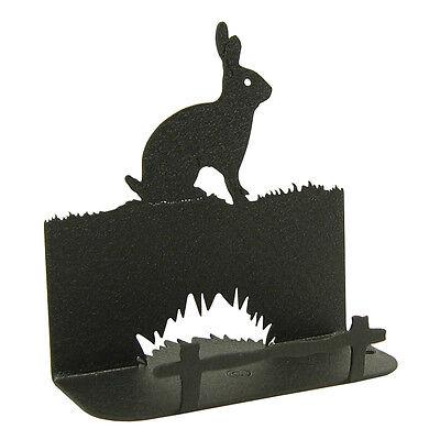 Bunny Rabbit Black Metal Business Card Holder