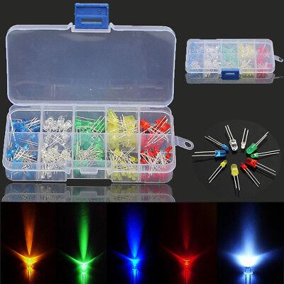 375pc 3mm 5mm 5 Colors Led Diode Beads Resistance Light Kit Bulb Lamp Assortment