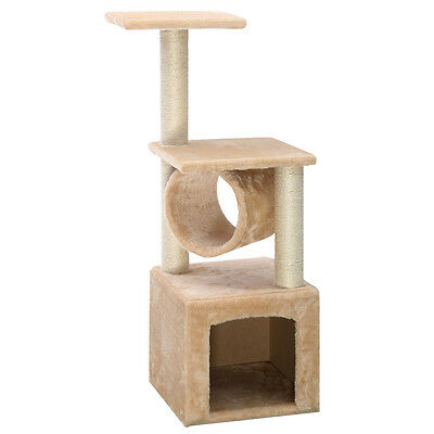 Deluxe 36″ Cat Tree Condo Furniture Play Toy Scratch Post Kitten Pet House Beige