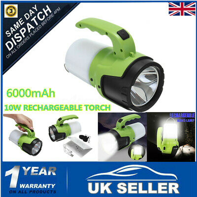 3.5 MILL CANDLE POWER LIGHT LED TORCH SPOTLIGHT HALOGEN FLASHLIGHT RECHARGEABLE