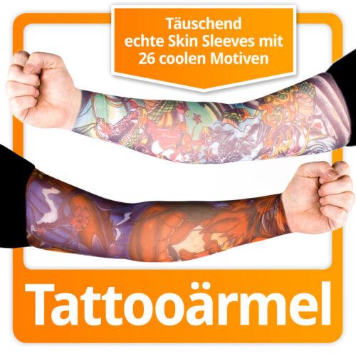 27 MOTIVE: Tattooärmel Nylon Ärmel Fake Tattoo Sleeves Kunst Stulpen Tätowierung