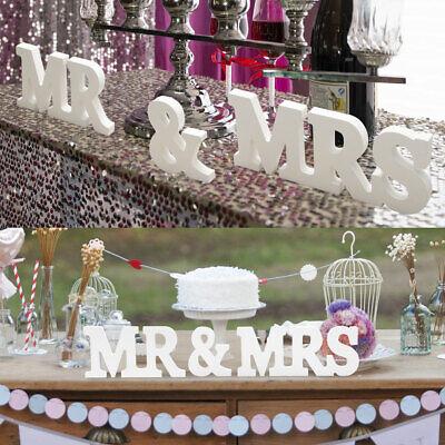 Mr & Mrs Zeichen HolzbuchstabenHolz Buchstaben Dekoration Tischdeko Hochzeit