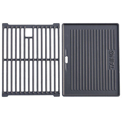 Gusseisen Grill Rost (TAINO BASIC 3+1 Gusseisen Rost Grillplatte Grillrost Zubehör Set Gasgrill Grill)