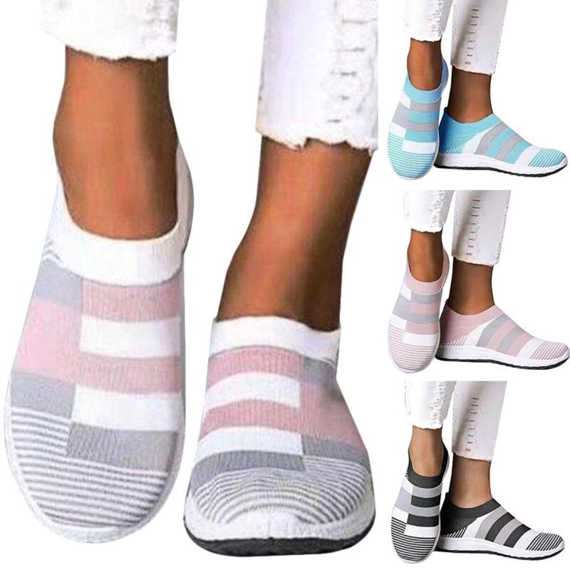 Damen Laufschuhe Turnschuhe Sockenschuhe Sneaker Flach Freizeitschuh Sportschuhe