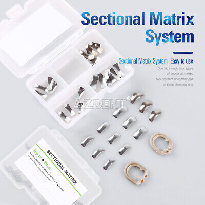 Dental Metal Matrices Bands Sectional Contoured Matrix Refill Wedges Resin Ring