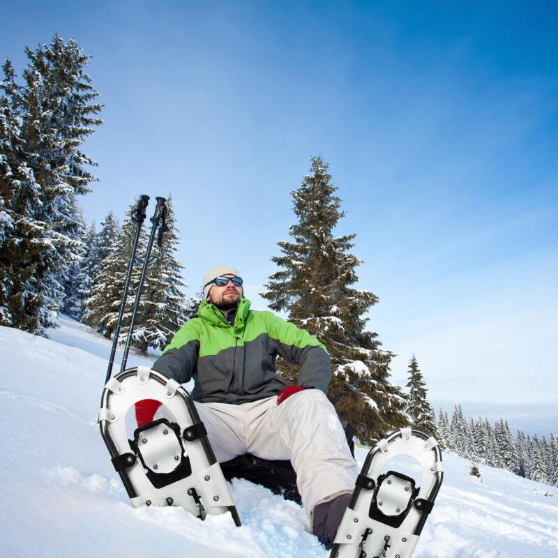 "30"" All Terrain Snow Shoes Lightweight Outdoor w/ Adjustable Ratchet Bindings"