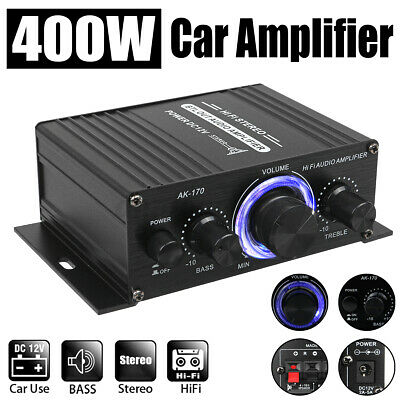 400W Audio Estéreo Amplificador Coche Hogar Música HiFi MP3 USB FM Amplifier