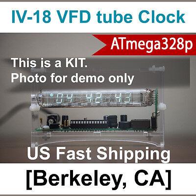 Upgraded to ATmega328p [Ice Tube Clock DIY KIT] IV-18 VFD Holiday Gift