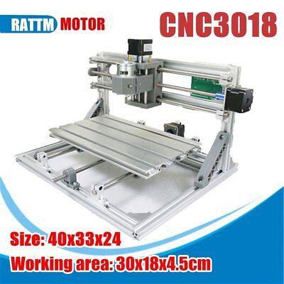 Diy Mini 3 Axis 3018 Cnc Machine Pcb Milling Wood Router Engraver Printer Sa