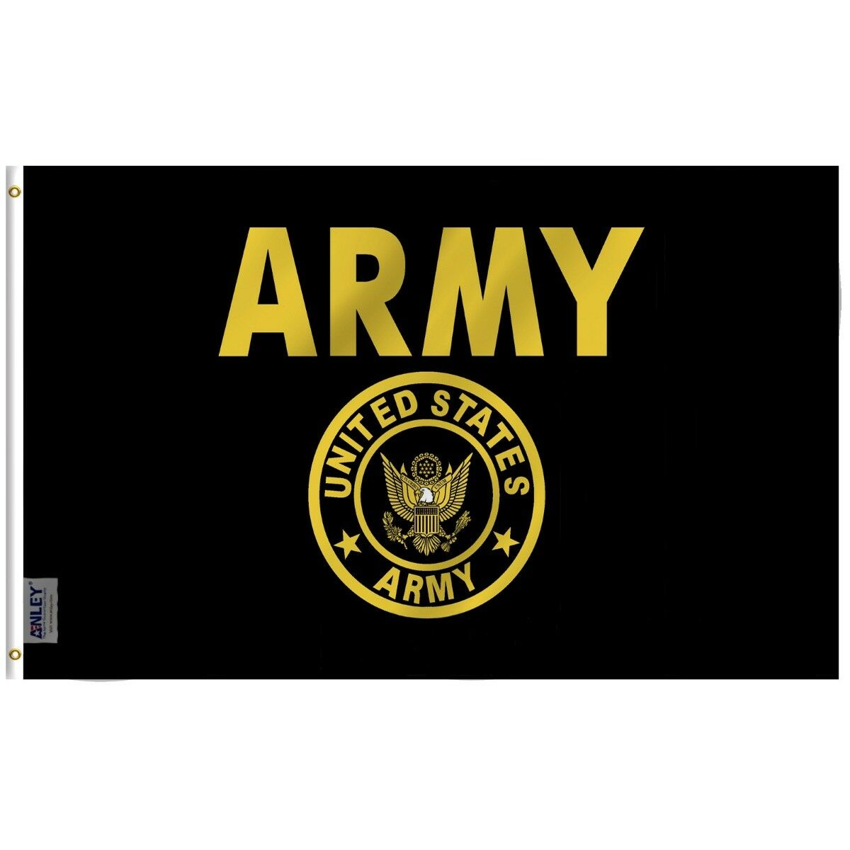 Anley Fly Breeze 3x5 Foot US Army Gold Crest Flag United Sta