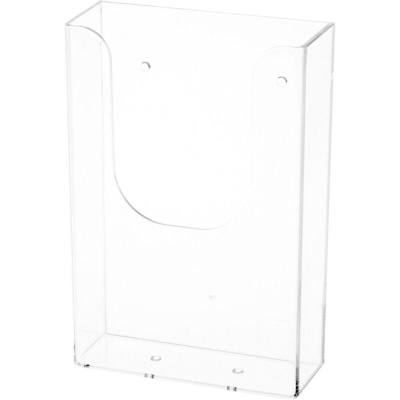 Plymor Acrylic Tri-Fold Paper/Brochure Literature Holder (Wall Mount) (2 Pack)