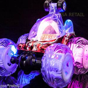 Rechargeable Turbo Twister Stunt Car Remote Controlled  Flashing Lights