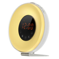 Wake-Up LED Light Touch Sensor Bedside Lamp Sunrise Alarm Clock, RGB 7 Colors