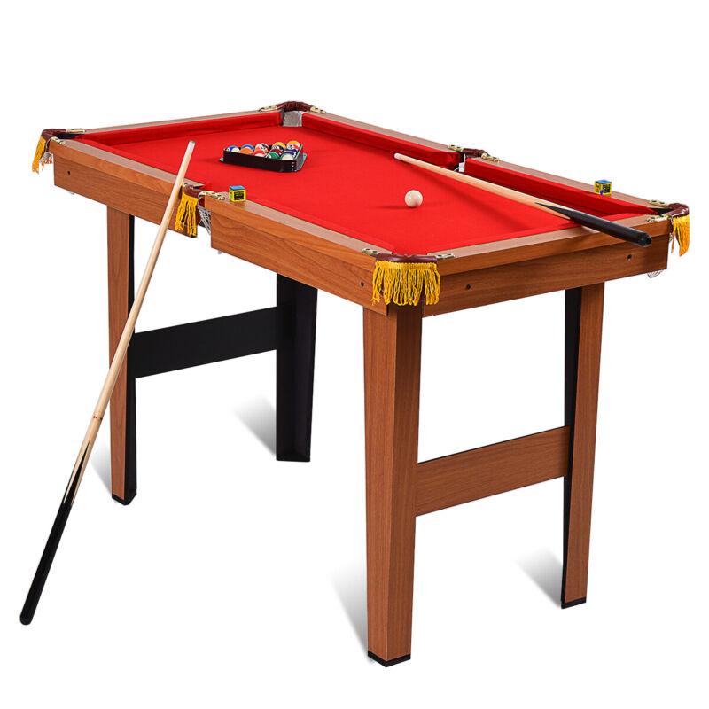 "48"" Mini Table Top Pool Table Game Billiard Set Cues Balls Gift Indoor Sports"