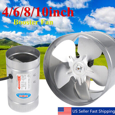 10' In Line Duct - 4'' 6'' 8'' 10'' Inch Booster Fan Inline Exhaust Blower for Ducting Vent