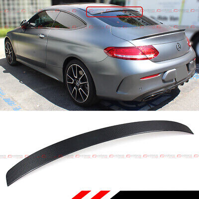 FOR 2017-19 MERCEDES BENZ W205 2DR C-CLASS CARBON FIBER REAR WINDOW ROOF SPOILER