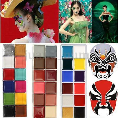 Professional Face Body Paint Oil Painting Art Make Up Halloween Party Kit - Professional Face Paint Halloween