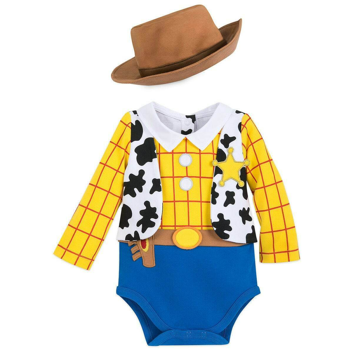 NWT Disney Store Woody Baby Costume Bodysuit and Hat Toy Sto