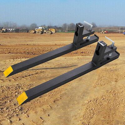43 In 2000lbs Capacity Hd Loader Bucket Skidsteer Tractor Clamp On Pallet Forks