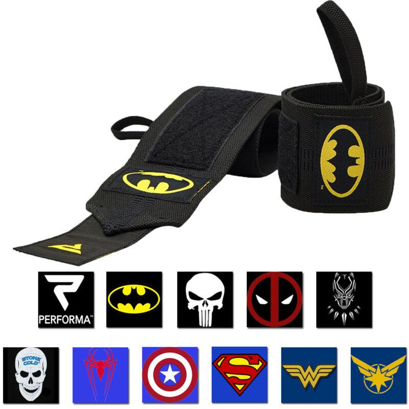 Performa Premium Weight Lifting Wrist Support Wraps - Choose Batman or Superman!