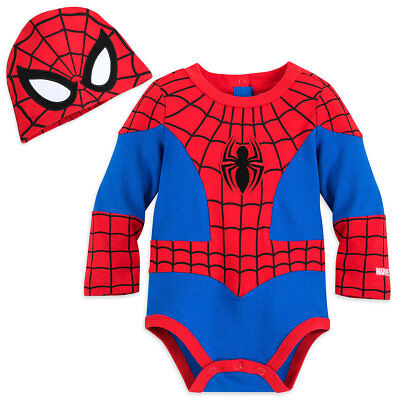 NWT Disney Store Spiderman Baby Costume Bodysuit Avengers Many - Spiderman Baby Costume