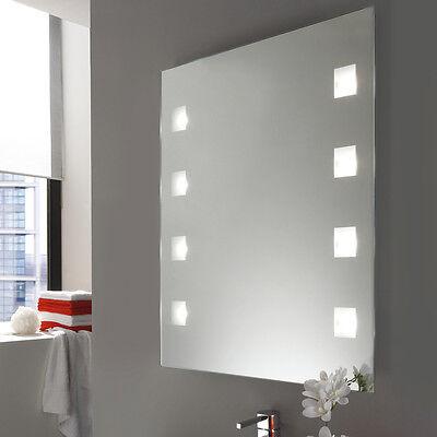 Spiegel Wandspiegel 70 x 56 cm Badspiegel LED Beleuchtung ...