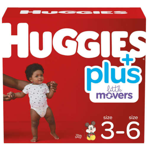 Huggies Little Movers Plus Diapers Size 6, 35lbs+. 116 ct.