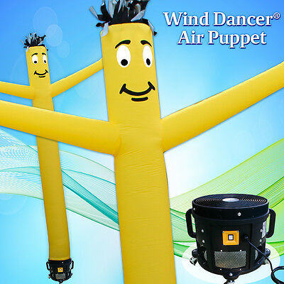 20 Yellow Wind Dancer Air Puppet Sky Wavy Man Dancing Inflatable Tube Blower