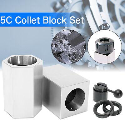 5c Collet Block Precision Set Square Hex Rings Collet Closer Holder Milling Us