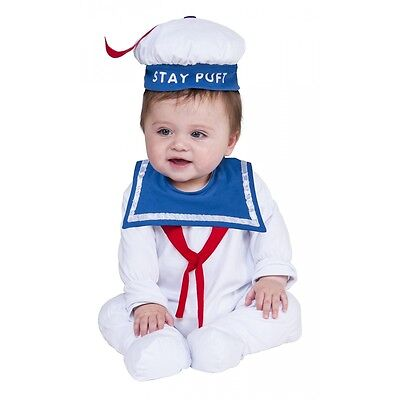 Stay Puft Marshmallow Man Costume Ghostbusters Halloween Fancy Dress - Puft Marshmallow Man Costume