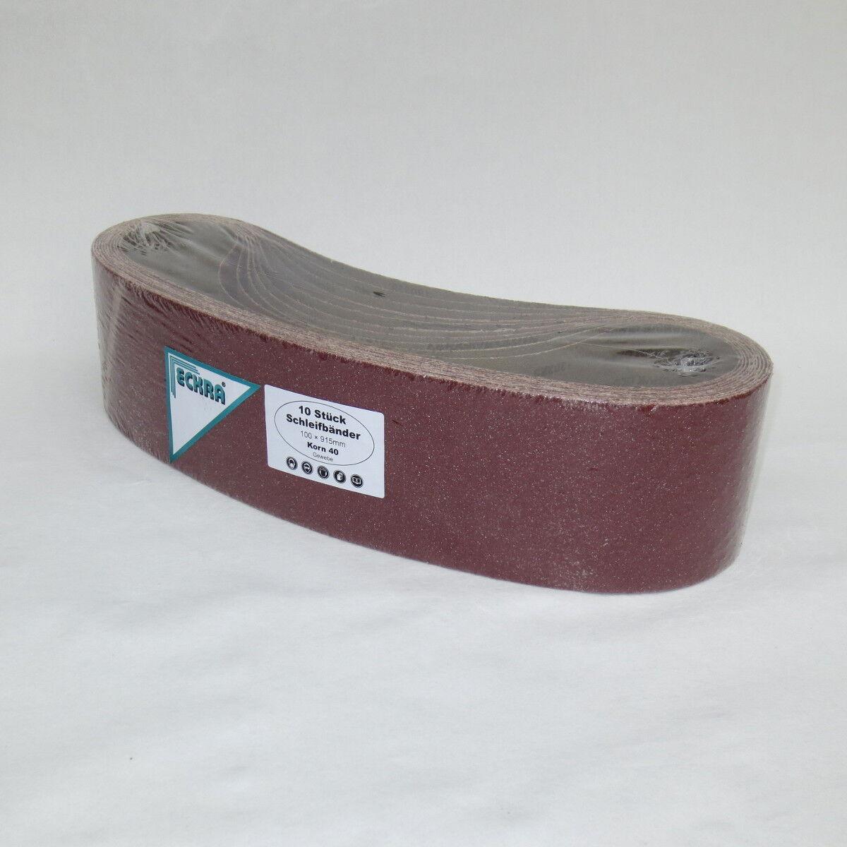 Schleifbänder für Bandschleifer 20 Bänder ECKRA® 100 x 610 mm P120 Schleifpapier