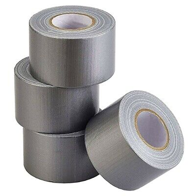 Heavy Duty Silver Duct Tape 4 Rolls Pack Industrial 27 Yards X 2 Inch