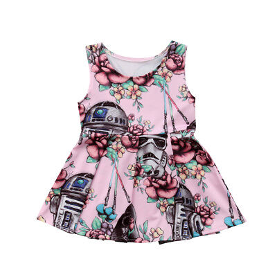 Toddler Kid Baby Girl Cartoon Star Wars Party Tutu Dress Skirt Outfit Clothes](Childrens Star Wars Clothing)